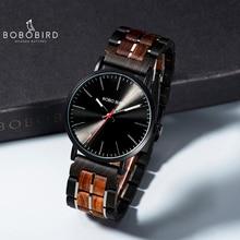 relogio masculino 2019 BOBO BIRD Men Quartz Wristwatch Wooden Watch Timepieces With Gift Wood Box V-S19 все цены