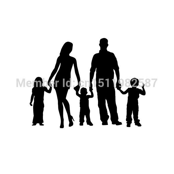 Stick Figure Family Car Stickers Truck Window Vinyl