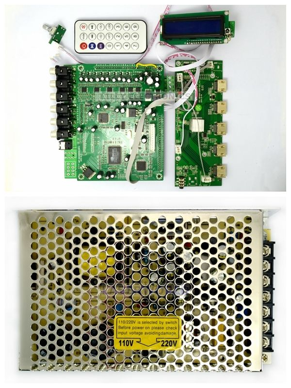 ZY-DTS8HD 7.1 Canal Décodeurs Carte de Décodage DTS AC3 3D HDMI 1.4 DTS Décodeurs avec alimentation