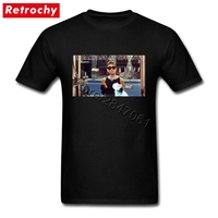 Large And Tall Band Merch Audrey Hepburn Tee Breakfast T Shirt Mens Simple Fashion Brand Short
