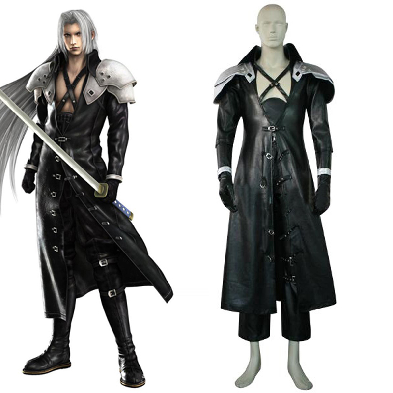 Final Fantasy VII 7 Sephiroth Deluxe Edition Cosplay Uniform Suit Full Set Men's Halloween Costumes Custom-made Express Shipping