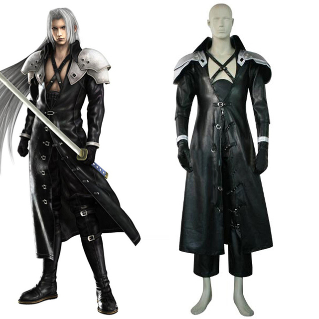 final fantasy vii 7 sephiroth deluxe edition cosplay uniform suit full set mens halloween costumes custom