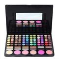 78 cores da paleta da sombra de maquiagem colorida nude destacando blush corretivo sombra de olho paleta de maquiagem em pó com mirror