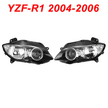 For 04-06 Yamaha YZFR1 YZF R1 YZF-R1 Motorcycle Front Headlight Head Light Lamp Headlamp CLEAR 2004 2005 2006 motorcycle accessories rear fender carbon fiber guard fairing abs for yamaha yzf r1 2004 2005 2006 yzfr1 04 05 06