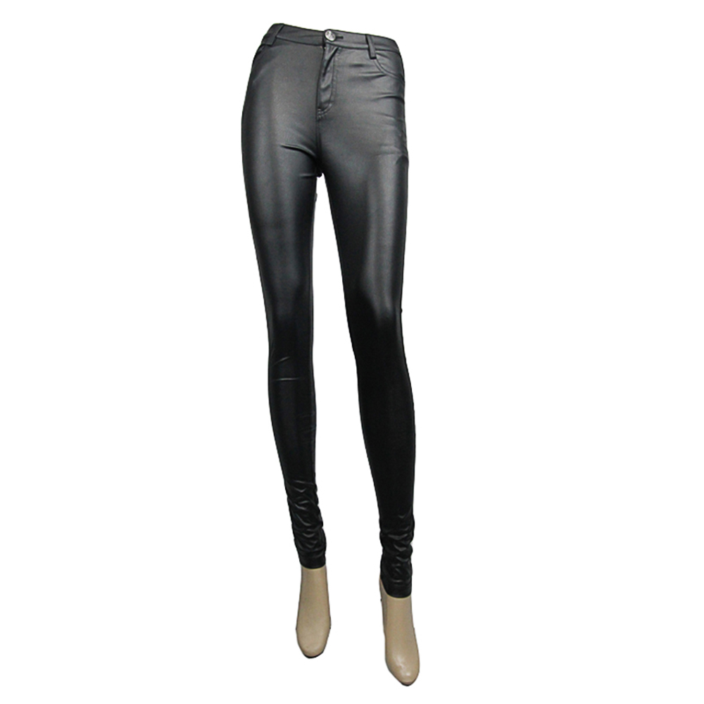 477d0acc5dc8c Aliexpress.com : Buy Punk Women PU Leather Pants Gothic Stretch Tight Black  Trousers Long Elastic Slim fitting Chaparajos With from Reliable leather  pants ...