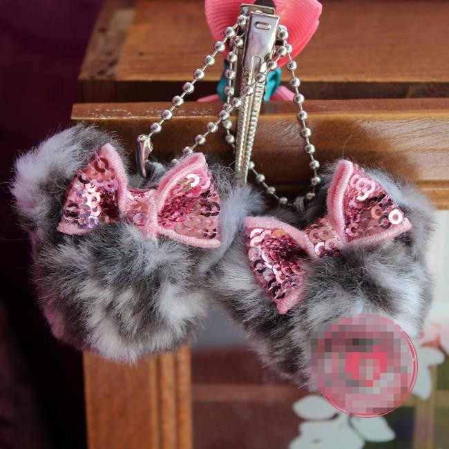 2 pçs/lote Minnie Mouse Mickey Mouse Sexy Leopard Mini Cadeia de Telefone de Brinquedo de Pelúcia Presente de Aniversário Da Menina