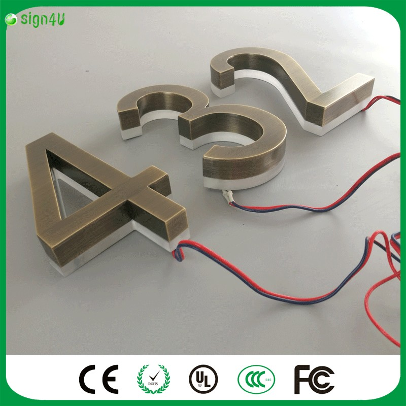 ФОТО HOT SALE! Factory Outlet Outdoor home decor Acrylic backlit LED house number
