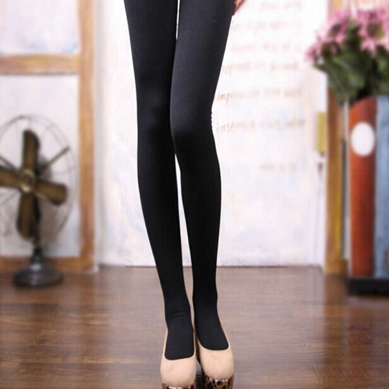 a293e6b0a7e Winter Black Pantyhose Warm Stockings Tights Footie Winter Tights Warm  Stockings Step Foot seamless High elasticity