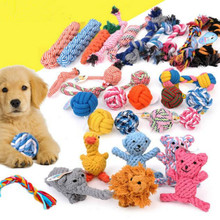 Pet Toys For Large Dog Bite Resist Interactive Cotton Bone Rope Toy Puppy Small Dog Toy Chew Knot Teeth Cleaning Pet Supplies pet dog puppy chew tug teeth cleaning knot toy tennis ball w rope