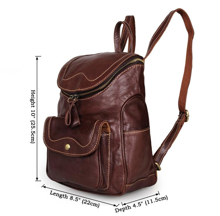 Women Backpacks Genuine Leather 2018 School Bags For Teenagers Girls Leisure Backpacks Female Travel books Rucksack Backpack in Backpacks from Luggage Bags