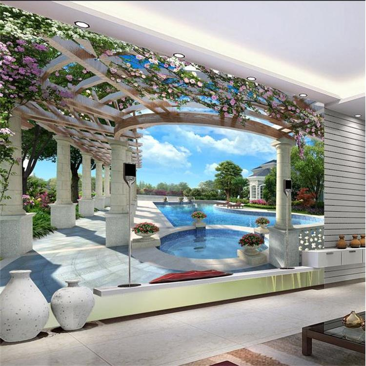 Large murals expand green space three D stereoscopic wallpaper backdrop living room bedroom wallpaper 3d flowers butterflies stereoscopic 3d block large mural 3d wallpaper bedroom room backdrop painting three dimensional 3d wallpaper