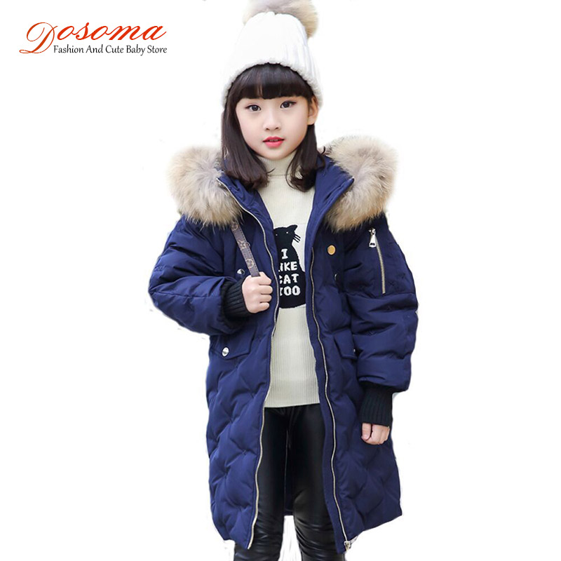 Dosoma Warm Kids Down Jacket For Girl Children's Cold Winter Jackets Long Pattern Child Boys Clothes Parka -30 Degree Outerwear russia winter boys girls down jacket boy girl warm thick duck down