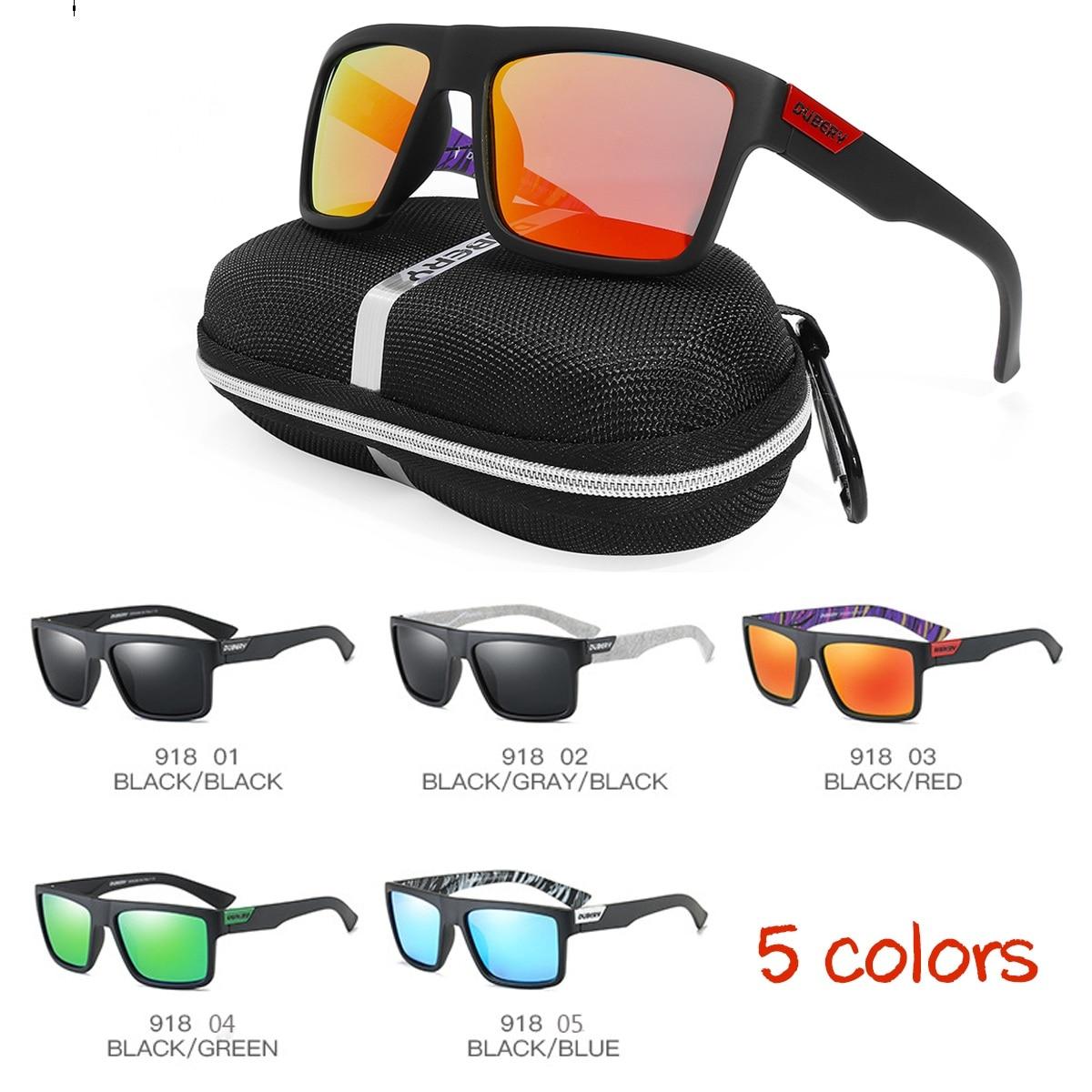 a0b3a61e25 Sol polarizadas antideslumbrante cuadrado deporte conducción hombres  mujeres gafas de sol la pesca viajar gafas con caja