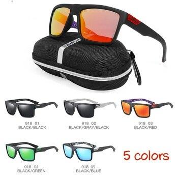 f8bbe030cf Sol polarizadas antideslumbrante cuadrado deporte conducción hombres  mujeres gafas de sol la pesca viajar gafas con caja