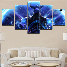 Modern Decor Canvas Home Decorations Wall Art For DOTA 2 Game 5 Pieces Paintings on for Living Room
