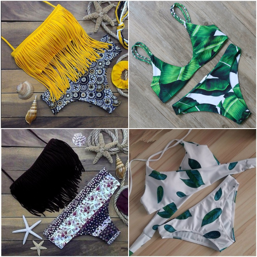 5 Bikini per lot 2017 Sexy Beach Swimwear Women Swimsuit Bathing Suit Brazilian Bikini Set maillot
