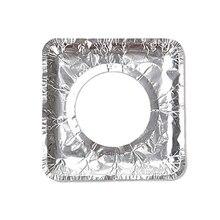 10 шт. прокладка для чистки газовой плиты Толстая алюминиевая фольга высокая температура жиронепроницаемая бумажная фольга Защитная крышка кухонные аксессуары S