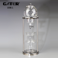GATER 600ml 1000ml Water Drip Coffee Maker Reusable Glass Filter Tools Espresso Coffee Dripper Pot Ice Cold Brew Coffee Machine