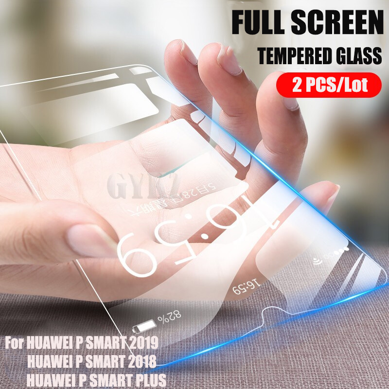 GYKZ 2pcs/Lot Full Screen Tempered Glass For HUAWEI PSMART 2019 Anti Blu-ray Protective Glass Film For HUAWEI P SMART Plus 2018