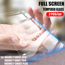 GYKZ 2pcs/Lot Full Screen Tempered Glass For HUAWEI PSMART 2019 Anti Blu-ray Protective glass film P SMART Plus 2018