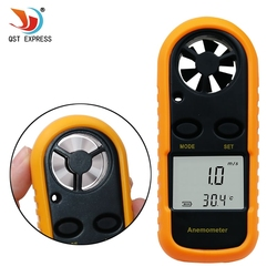 Digital Anemometer 0-30m/s Wind Speed Meter -10 ~ 45C Temperature Tester Anemometro with LCD Backlight Display