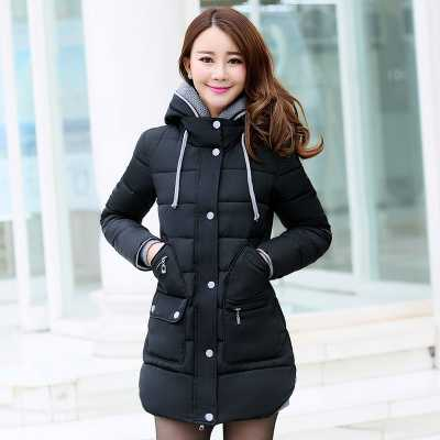Women Coat 2016 New Design Hooded Single Breasted Jackets Fashion Winter Coats Women Slim Thicken Parkas 3XL A4285 jm collection new navy single breasted coat l $99 5 dbfl