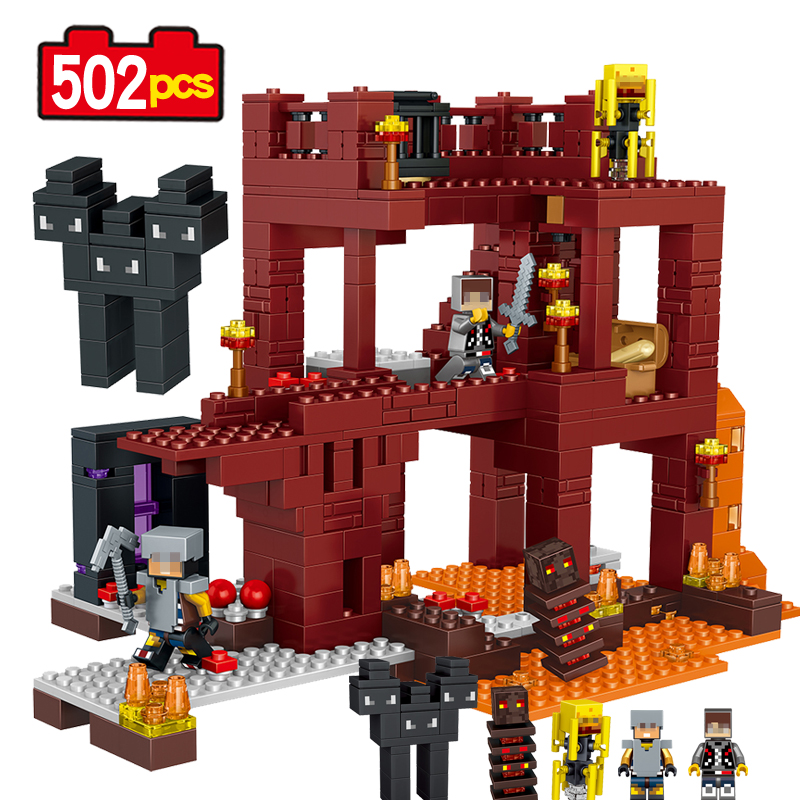 MY WORLD Minecrafted Assembled DIY Model building Blocks Compatible With Legoe  Kids Toys Bricks Kids Action Birthday Toy лидия чуковская прочерк