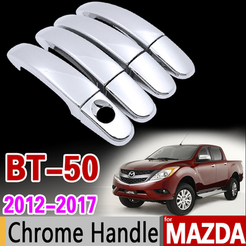 For Mazda BT-50 2012-2017 Chrome Handle Cover Trim Set for BT 50 BT50 Car Accessories Stickers Car Styling 2013 2014 2015 2016 image