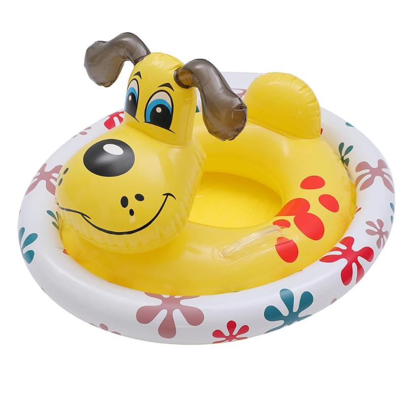 Baby Kids Swimming Ring Shaped Inflatable Swim Ring Swimming Pool Floats Accessories Rings Cartoon Windmill Training Float Seat