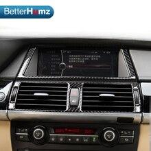 Для BMW e70 e71 X5 X6 панель управления салоном навигации из углеродного волокна для автомобильного кондиционера