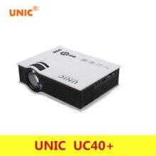 Профессиональный UNIC UC40 + проектор мини Портативный 3D HDMI домашний Театр проектор мультимедийный проектор Full HD 1080 P видео плеер