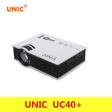 Professional UNIC UC40+ Projector Mini Portable 3D HDMI Home Theater Beamer Multimedia Projector Full HD 1080P Video Player
