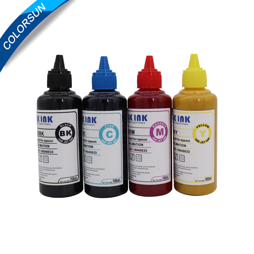 400ML Refill Sublimation Ink For Epson S22 WF4630 WF4640 WF5110 Printers Heat Transfer Ink Heat Press Sublimation Ink For Epson