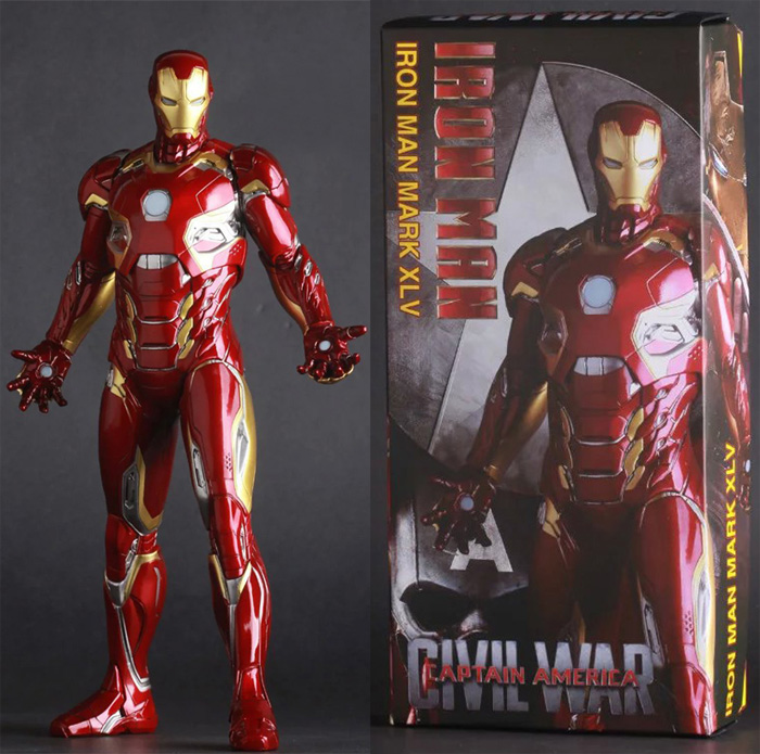 12 30CM Crazy Toys The Avengers Captain America Civil War Iron Man Mark XLV MK 45 PVC Action Figure Collectible Model Toy 15A leadtry bluetooth headphone portable bluetooth headset sport earphone with mic pedometer earbud case for phone pc tv