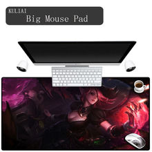 XGZ Redhead Girl Sexy Gaming Mouse Pad Large Carpet Mousepad Game Keyboard Mat Slim&Attractive Non-Reface Designing Mousepads
