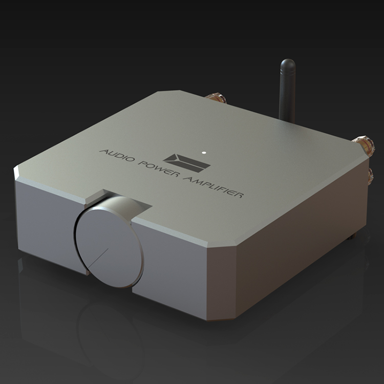 完成ミニハイファイの Bluetooth 5.0 オーディオパワーアンプ 2*80 ワットデュアルチャンネルステレオアンプ新 2019  グループ上の 家電製品 からの アンプ の中 2