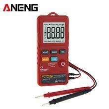 ANENG AN302 true rms digital multimeter tester 8000 Counts A multimetro transistor testers banana aligator peak cable meter