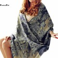 190*70CM Ethnic Floral Print Blanket Scarf Boho Pashmina Wrap Warm Winter Scarf Plus Size Women Shawls And Scarves Bufandas 10
