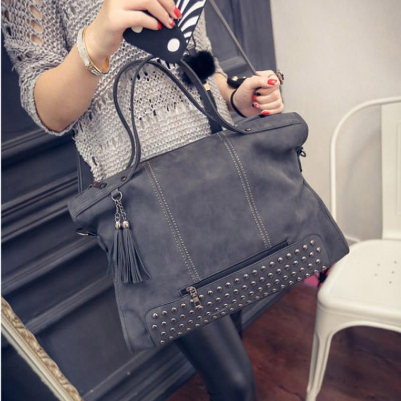 MIWIND Vintage Handbag PU Leather Fashion Tassel Handbag Messenger Bag Rivet Shoulder Bag RHB008MIWIND Vintage Handbag PU Leather Fashion Tassel Handbag Messenger Bag Rivet Shoulder Bag RHB008