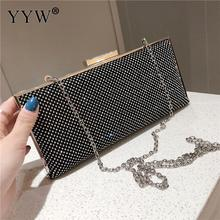 Gold Women Evening Bag Party Banquet Clutch Female 2019 Wedding Clutches Handbag Chain Rhinestone Female Purse New Bolsas Mujer women evening bag gold chain stone high quality day clutches wedding purse party banquet girls messenger bag fashion multicolor
