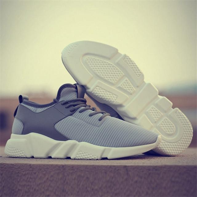 Sneakers Men Shoes Breathable Casual Shoes Men Lace Up Sneakers Lightweight Male Shoes Comfortable Non-slip Soft Mesh Men Shoes