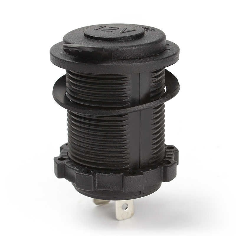 Waterproof Heat Resisting Plastic Car Accesories Motorcycle Power Socket Car Cigarette Lighter Plug High Quality DC 12V 24V