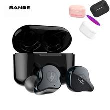 Oryginalne słuchawki bezprzewodowe bluetooth 5.0 zestaw słuchawkowy Mini słuchawki Auto z 3000mAh skrzynka do ładowania