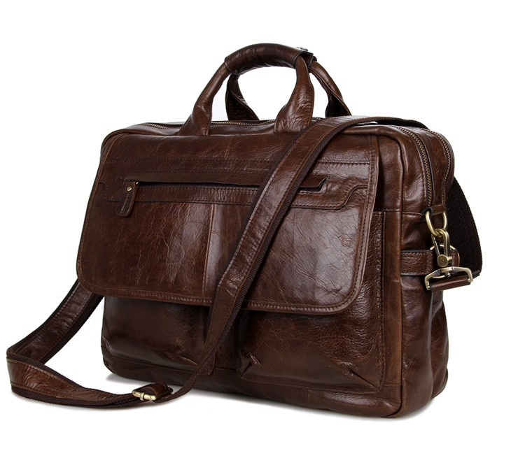 Nesitu Large Capacity Genuine Leather Men Messenger Bags Cowhide Man Briefcase Portfolio 14 inch Laptop Bag #M7085-2 цена и фото