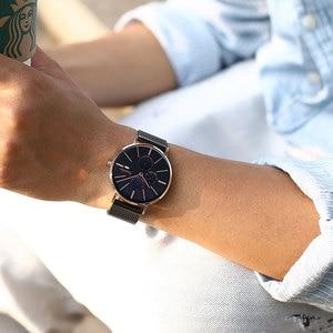 Image 3 - Bestdon יוקרה גברים של יד שעונים מיובא קוורץ עמיד למים Slim חודש נירוסטה למעלה מותג מאן שעון Relogio Masculino