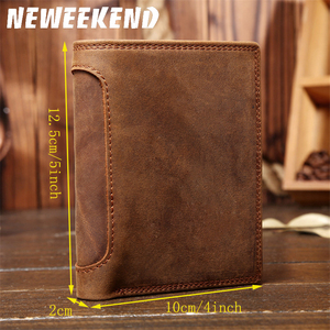 Image 2 - Fathers Day Gift Vintage Customize Genuine Leather Cowhide Short Thick Cash Card Coin Wallet Purse Pocket Holder for Man 566
