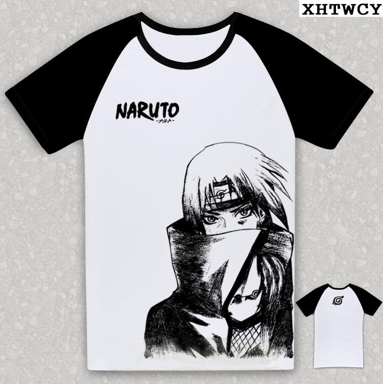2018 anime naruto characters 3d printed men s naruto game cotton t