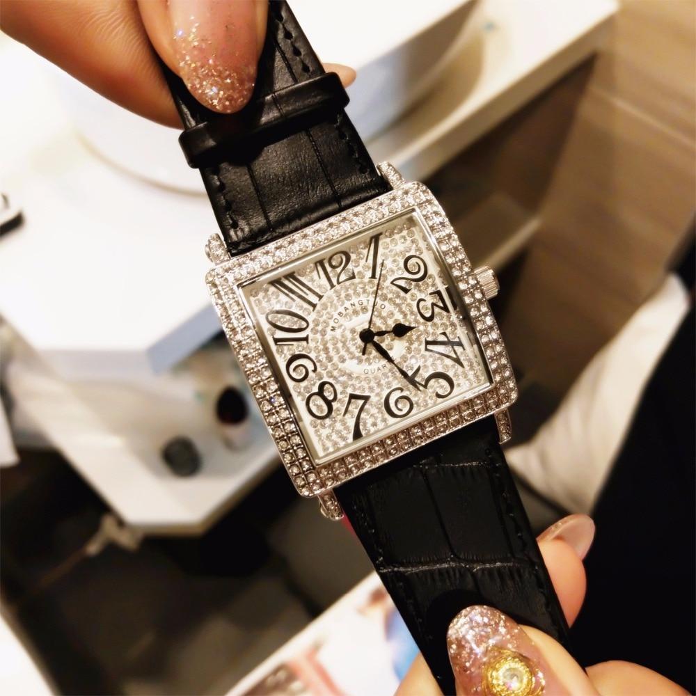 Kvinnor Klocka Utsökt Top Luxury Diamond Quartz Damklocka Mode - Damklockor