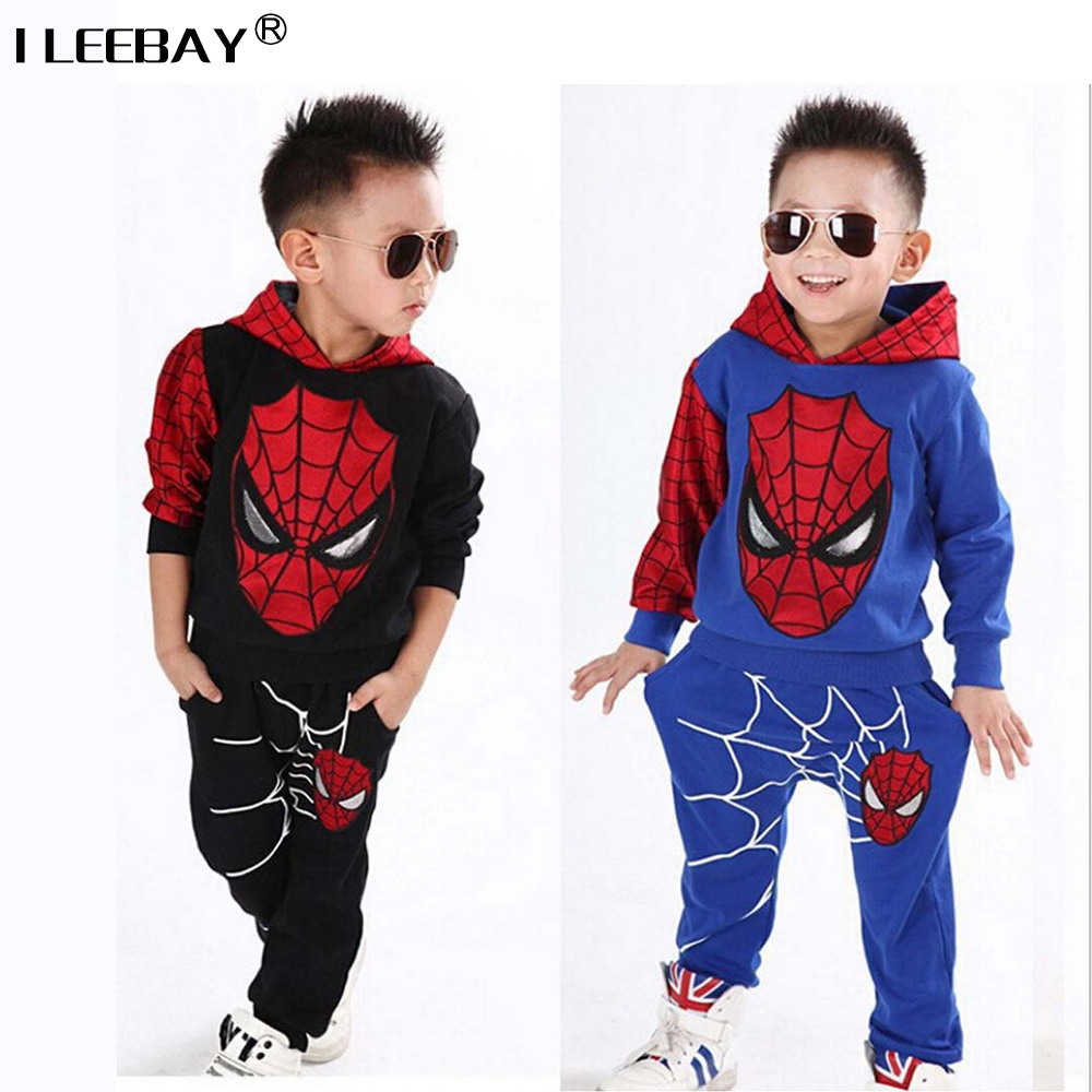 Baby Boys Clothes Set Children Spiderman Tracksuit Boy Clothing Sets Kids Sport Sweatshirts Set Toddler Hoody+Pants 2pcs Suits spring autumn children s clothing suits kids sweatshirts pants children sports suit boys clothes set retail toddler leisure