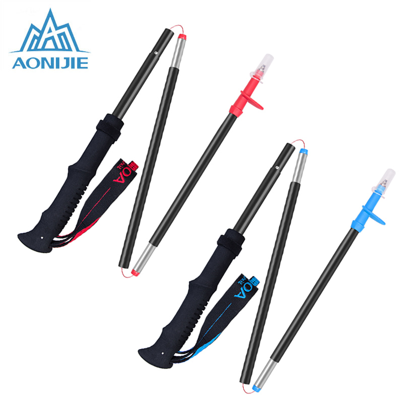 AONIJIE Walking Sticks Anti-shock Trekking Pole Lightweight Hiking Sticks Nordic Walking Stick Trekking Cane 4 Sections HT4070